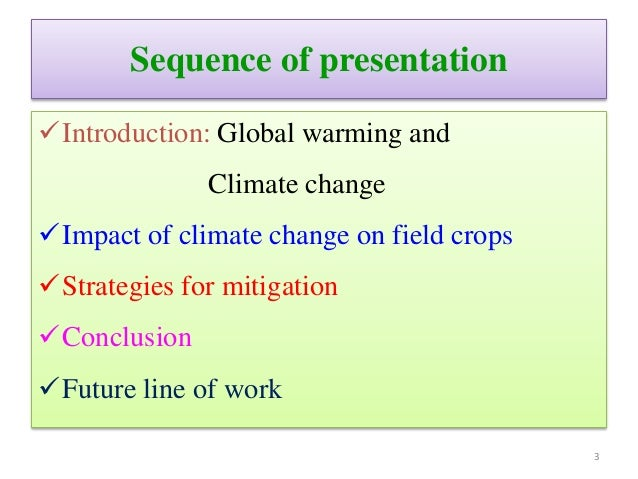 Climate change and its impact on