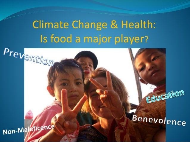 Climate Change & Health: Is food a major player?