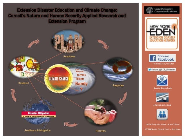 Extension Disaster Education and Climate Change:Cornell's Nature and Human Security Applied Research and                  ...