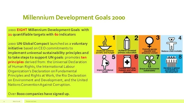 from millennium development goals to sustainable The purpose of this note is to provide a brief outline the similarities and differences between the millennium development goals (mdgs) launched in 2000, and the sustainable development.