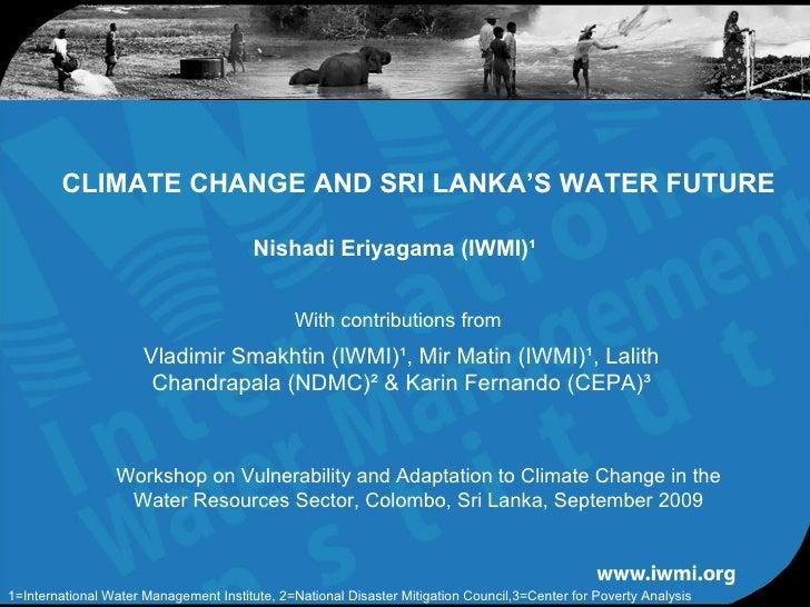 Climate change and sri lanka's water future