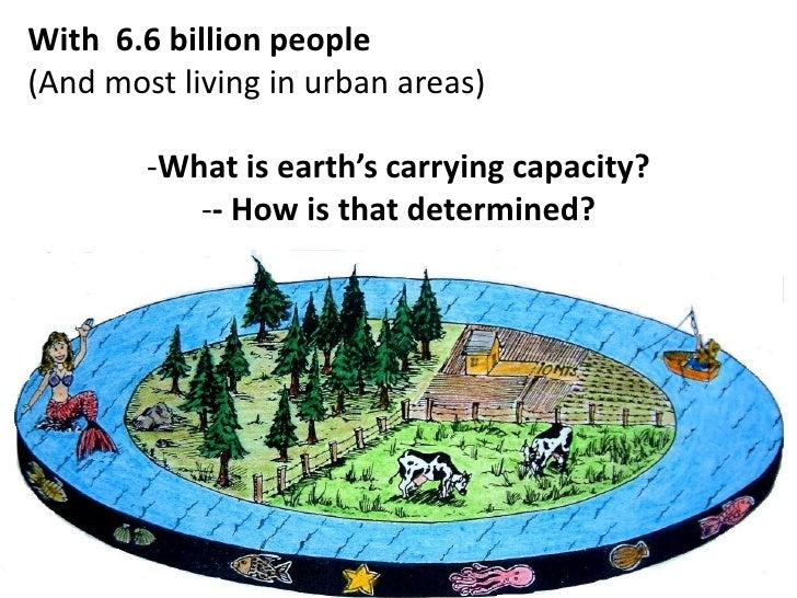 With 6.6 billion people(And most living in urban areas)        -What is earth's carrying capacity?           -- How is tha...