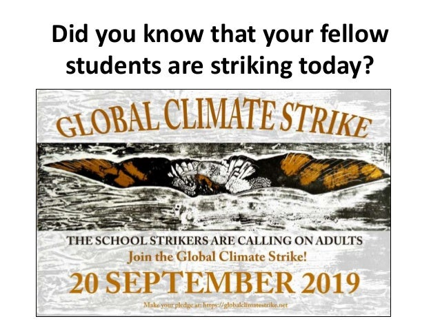 Did you know that your fellow students are striking today?