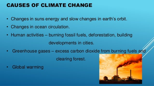causes and effects of global climate change
