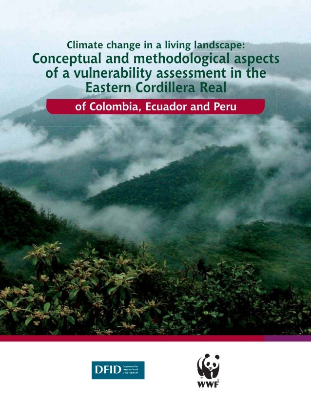 Climate change in    a living landscapeConceptual and methodological aspects of a vulnerability assessment in the Eastern ...