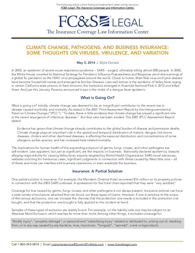The Insurance Coverage Law Information Center  The following article is from National Underwriter's latest online resource...