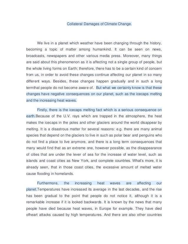 epekto ng climate change essay tagalog