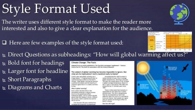 Short essay on global warming