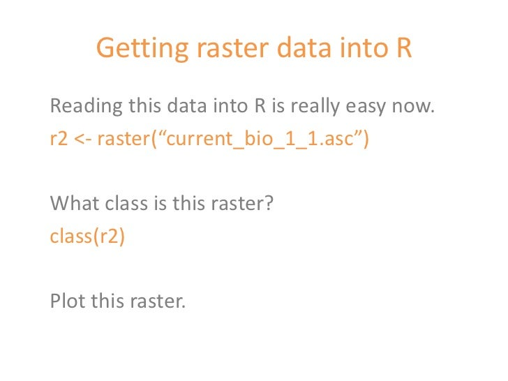 Climate data in r with the raster package