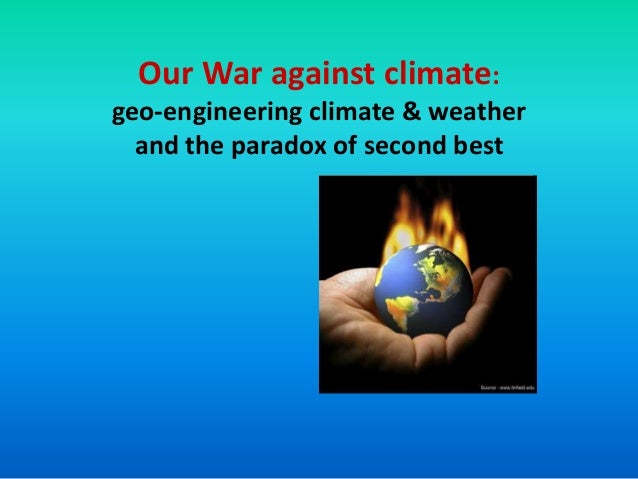 Our War against climate: geo-engineering climate & weather and the paradox of second best  Sandia Lab Program logo