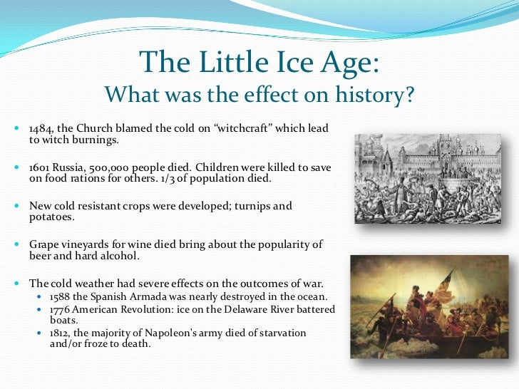 the little ice age and climate The little ice age (lia) was a period of cooling lasting approximately from the 14th to the mid-19th centuries, although there is no generally agreed start or end.