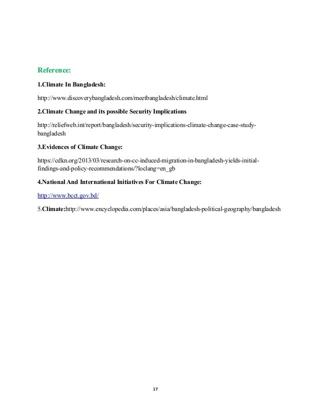 research paper on climate change in bangladesh