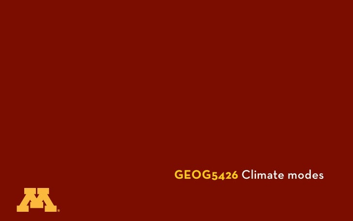 GEOG5426 Climate modes