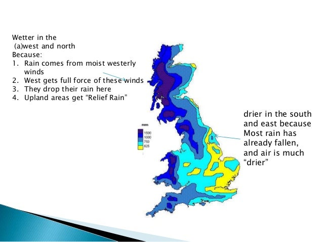 the climate of the british isles Details of the climate series maintained by the met office national climate information centre  d,1997:precipitation in the british isles:.