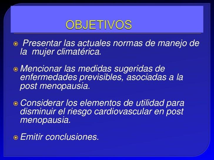 Climaterio y riesgo cardiaco Slide 2