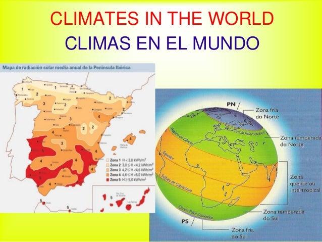 CLIMATES IN THE WORLD CLIMAS EN EL MUNDO