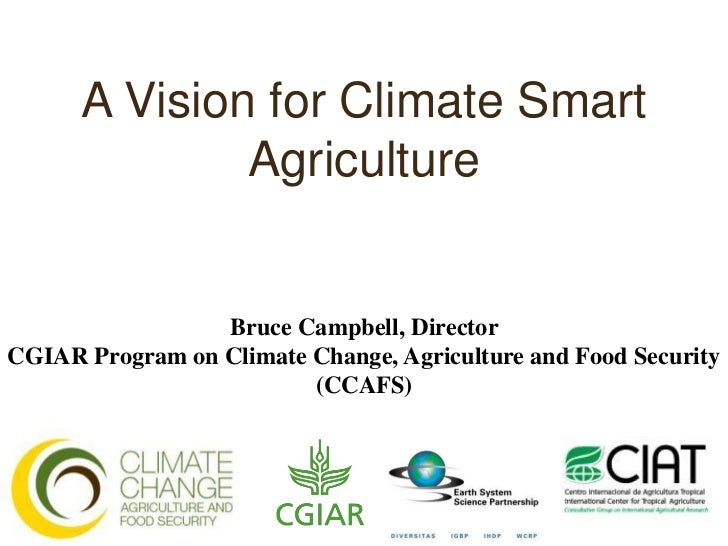 A Vision for Climate Smart              Agriculture                 Bruce Campbell, DirectorCGIAR Program on Climate Chang...