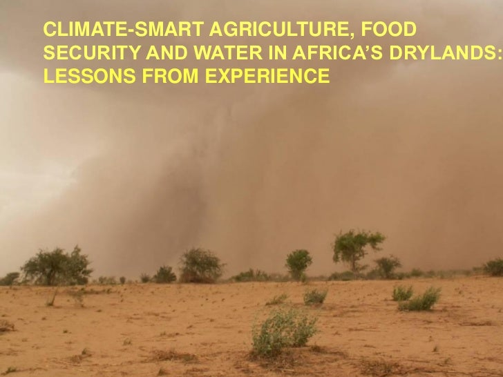CLIMATE-SMART AGRICULTURE, FOODSECURITY AND WATER IN AFRICA'S DRYLANDS:LESSONS FROM EXPERIENCE