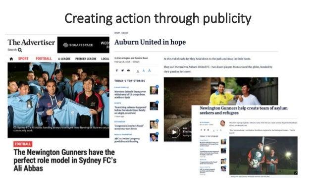 Creating action through publicity