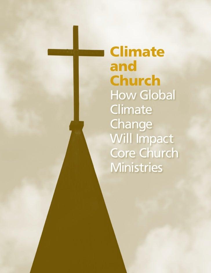 ClimateandChurchHow GlobalClimateChangeWill ImpactCore ChurchMinistries