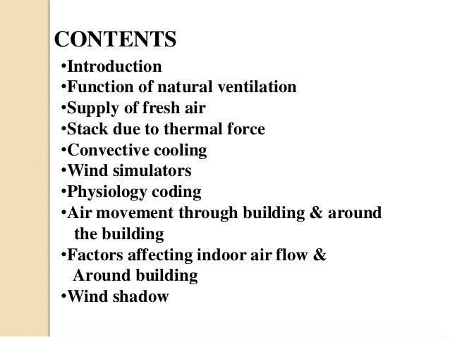 Building Services- Ventilation Slide 3