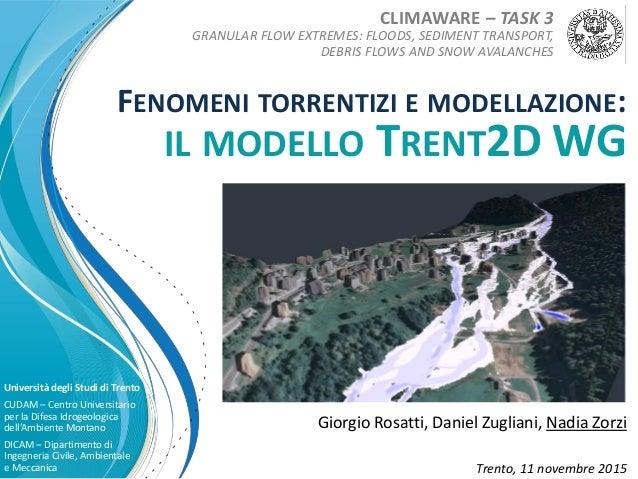 Giorgio Rosatti, Daniel Zugliani, Nadia Zorzi Università degli Studi di Trento CUDAM – Centro Universitario per la Difesa ...