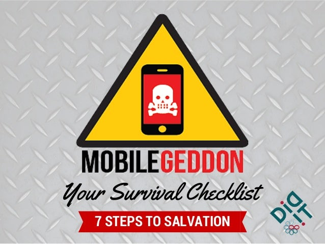 Your Survival Checklist 7 STEPS TO SALVATION