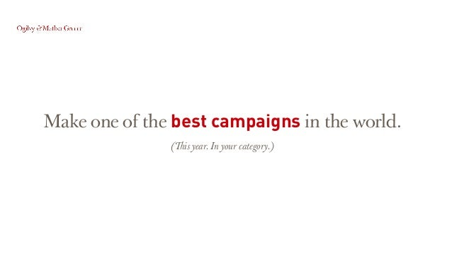 Present the most appealing case study. Making the jury lift you up!