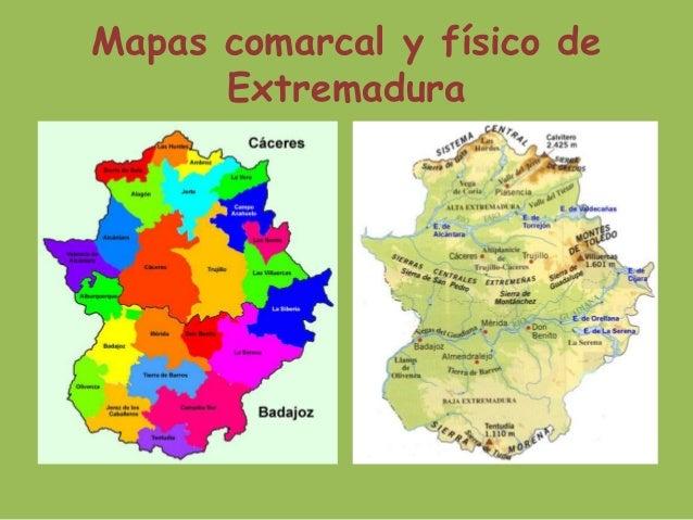 Mapa De Extremadura Comarcas.Climograma De Extremadura