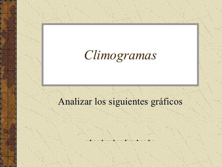 Climogramas Analizar los siguientes gráficos