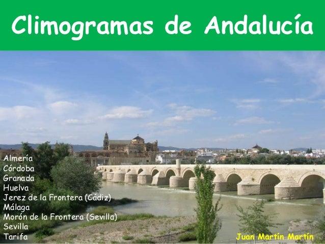 Climogramas de Andalucía    Almería    Córdoba    GranadaAlmería    HuelvaCórdoba de la Frontera (Cádiz)    Jerez    Málag...