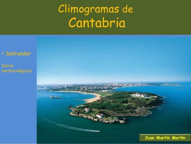 Climogramas de Cantabria • Santander Datos meteorológicos Juan Martín Martín