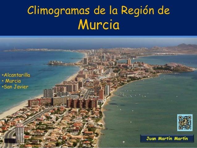 Climogramas de la Región de Murcia •Alcantarilla • Murcia •San Javier Juan Martín Martín