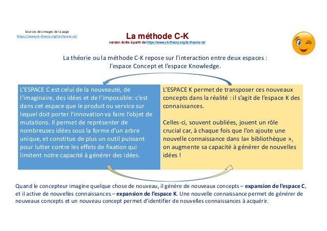 La méthode C-K version écrite à partir de https://www.ck-theory.org/la-theorie-ck/ La théorie ou la méthode C-K repose sur...