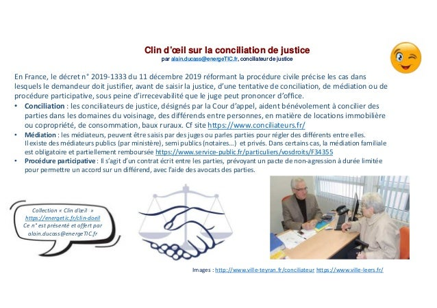 En France, le décret n° 2019-1333 du 11 décembre 2019 réformant la procédure civile précise les cas dans lesquels le deman...