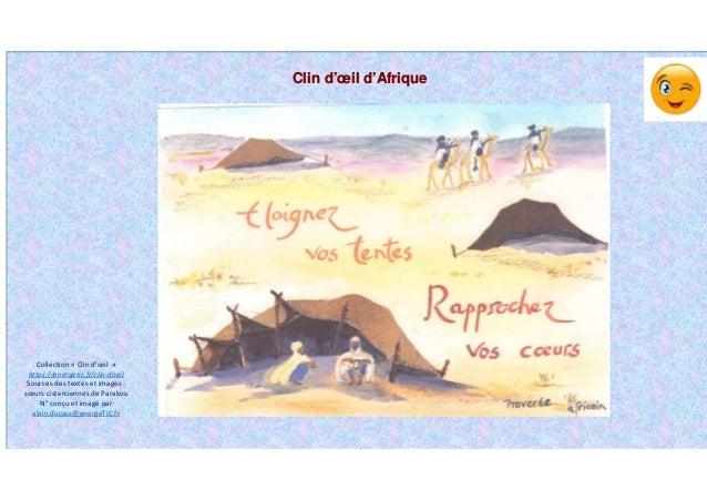 Clin d'œil d'Afrique Collection « Clin d'œil » https://energetic.fr/clin-doeil Sources des textes et images : sœurs cister...
