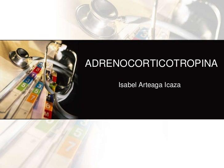 ADRENOCORTICOTROPINA     Isabel Arteaga Icaza