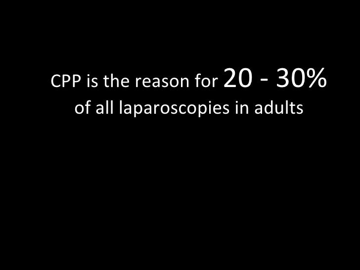 CPP is the reason for  20 - 30%  of all laparoscopies in adults