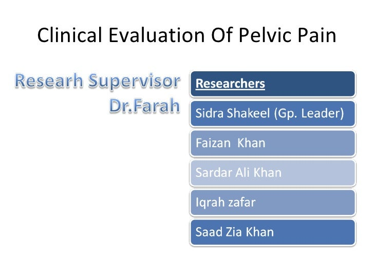 Clinical Evaluation Of Pelvic Pain
