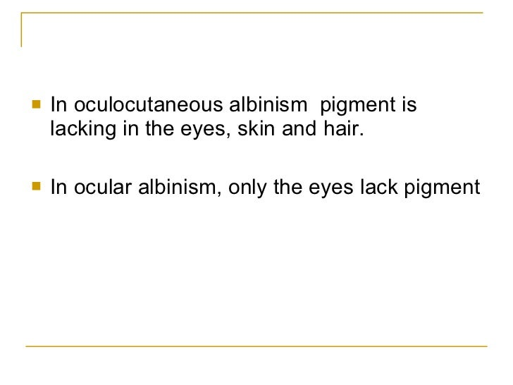 albinism description