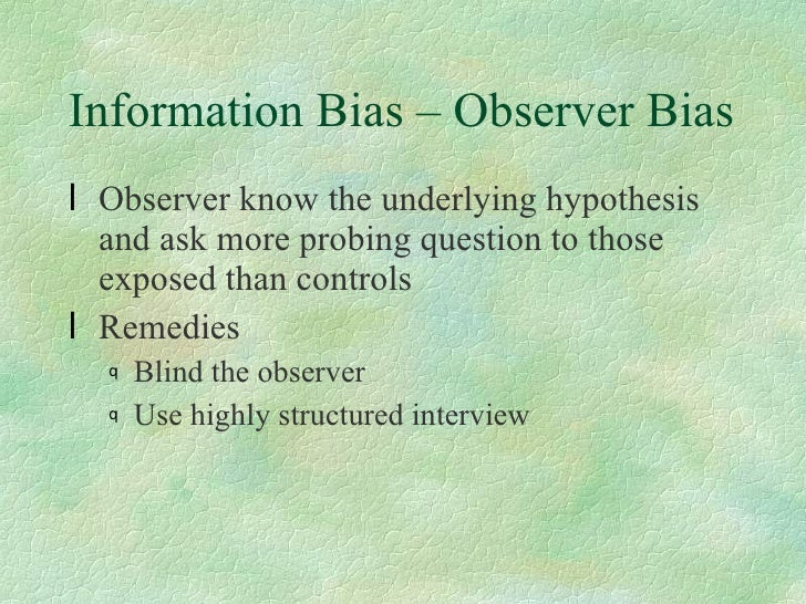 in a case-control study misclassification due to recall bias may be termed In epidemiological research, recall bias is a systematic error caused by  differences in the accuracy or completeness of the recollections retrieved ( recalled) by study participants  recall bias can be a particular concern in  retrospective studies that use a case-control  case-control studies: research in  reverse (pdf.