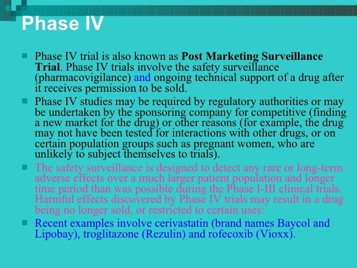 Phases of clinical trial 11. 9. 14.
