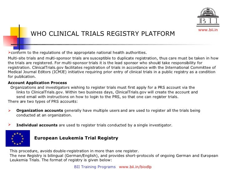 Clinical Trials Registry
