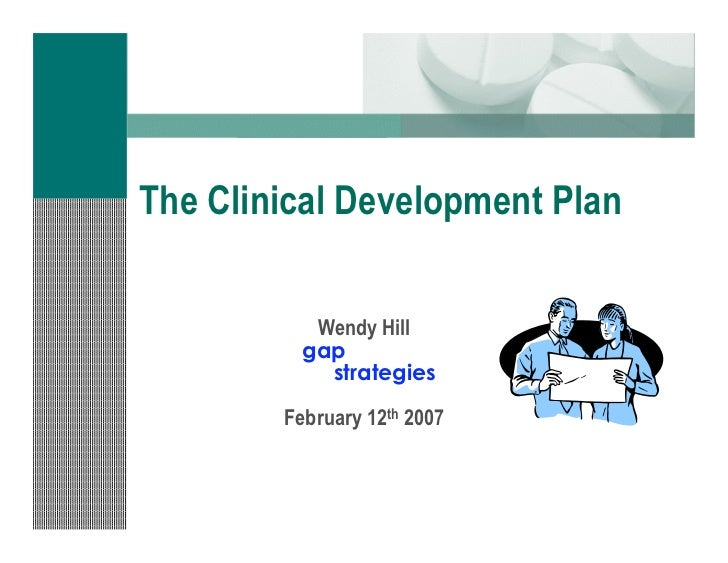 Clinical trials strategy the development plan