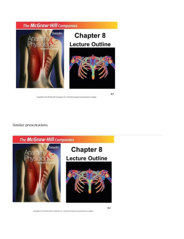 Fantastisch Saladin Anatomy And Physiology Powerpoints Galerie ...