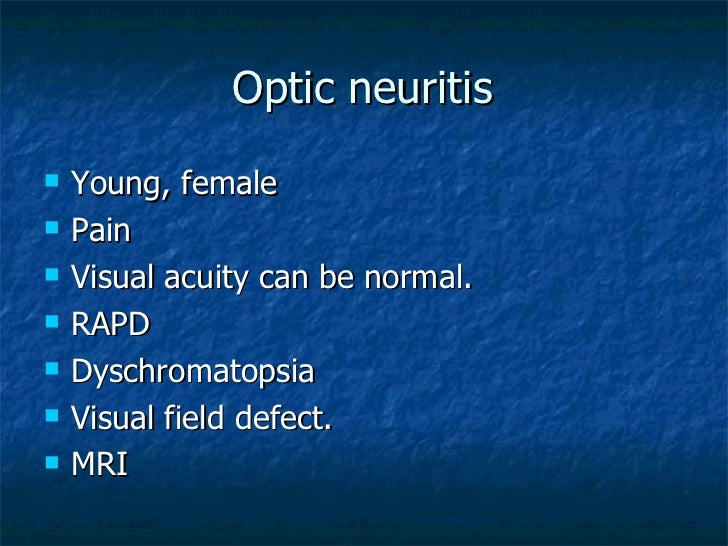 optic neuritis recovery time steroids
