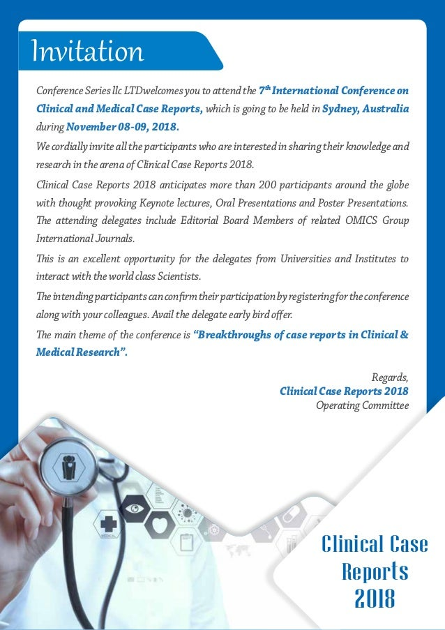 Clinical and Medical Case Reports 2018 brochure