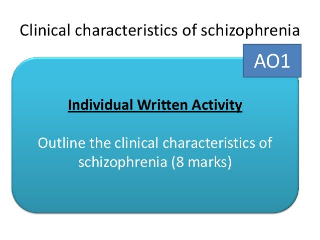 outline clinical characteristics of schizophrenia Clinical characteristics in schizophrenia patients with or without suicide attempts  and non-suicidal self-harm - a cross-sectional study.
