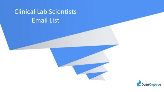 Clinical Lab Scientists Email List
