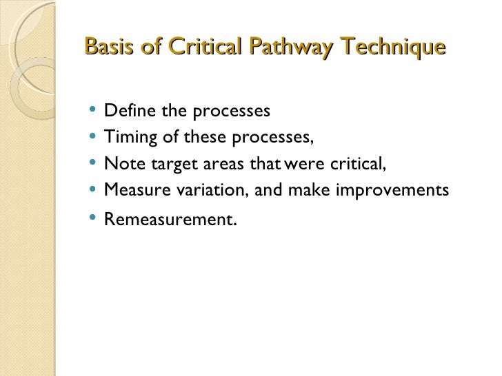 critical pathway template